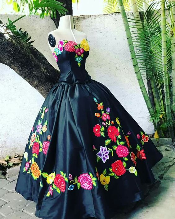 Embroidered Quinceañera dresses