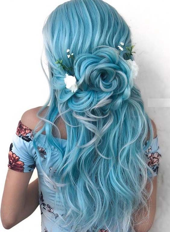 Fantasy Colors for Quinceañera's Hair